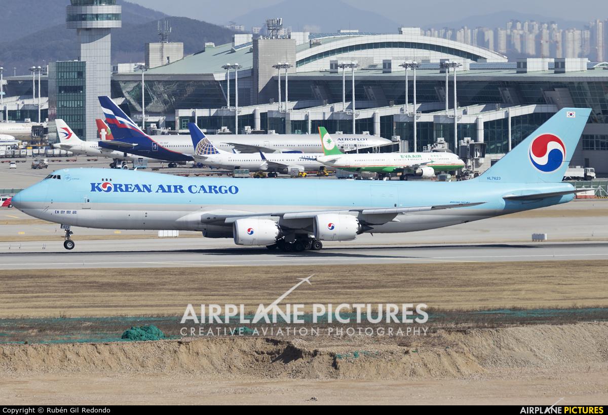 Korean Air Cargo HL7623 aircraft at Seoul - Incheon
