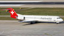 HB-JVE - Helvetic Airways Fokker 100 aircraft