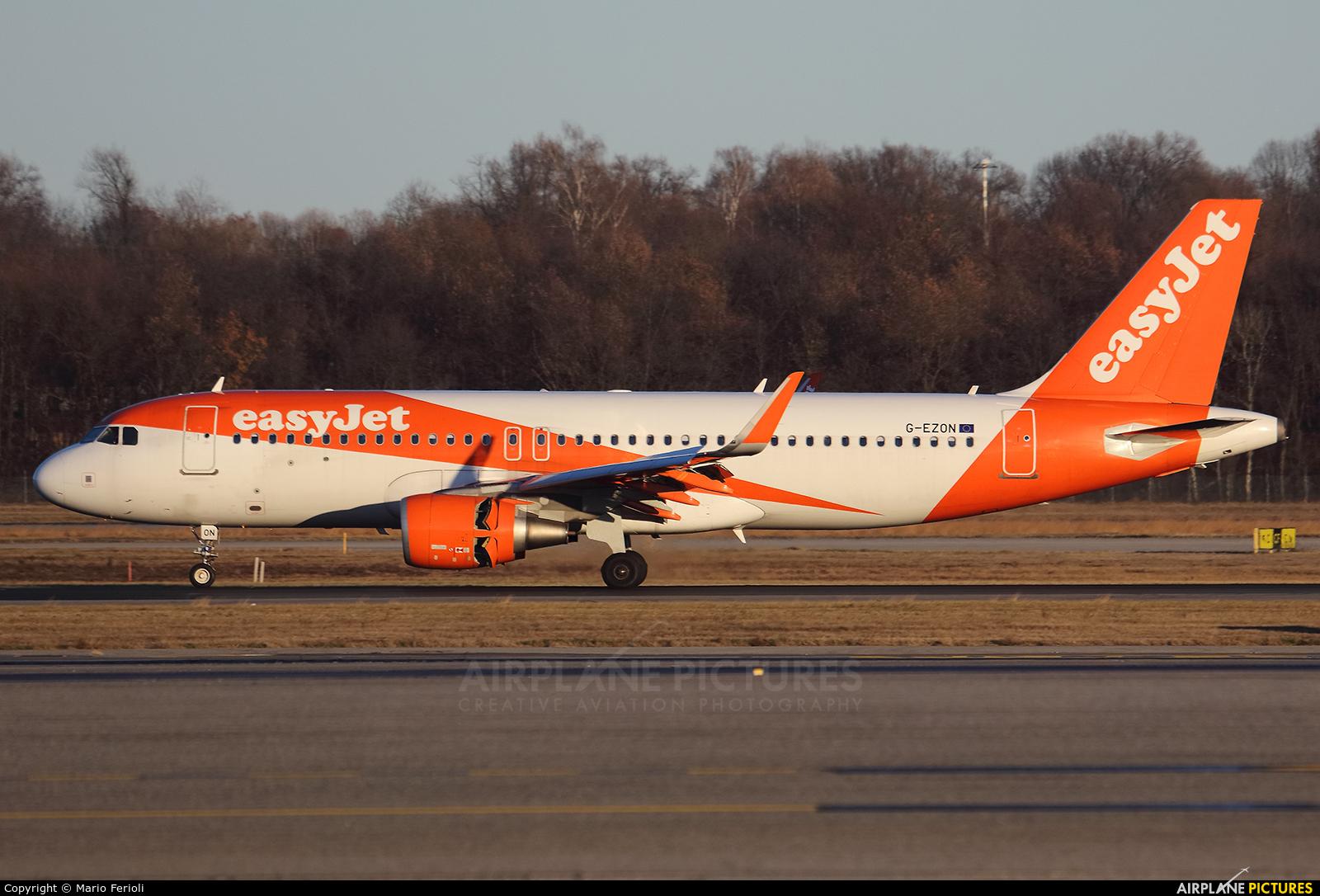 easyJet G-EZON aircraft at Milan - Malpensa