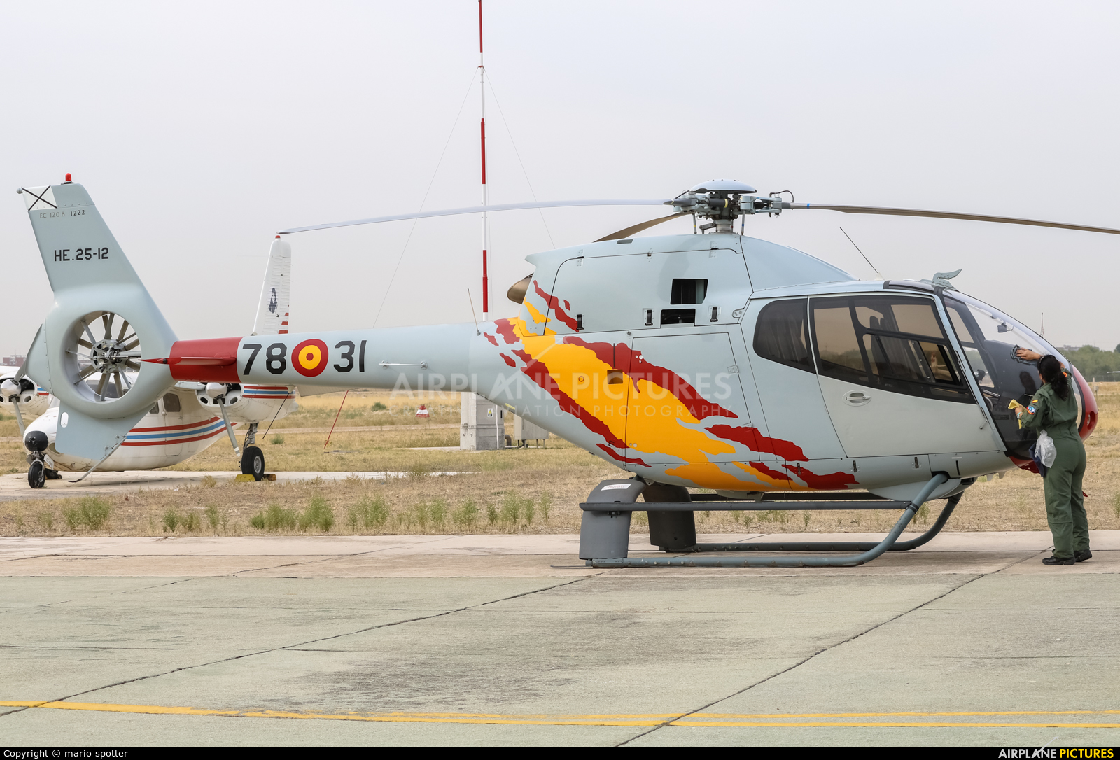 Spain - Air Force: Patrulla ASPA HE.25-12 aircraft at Madrid - Cuatro Vientos