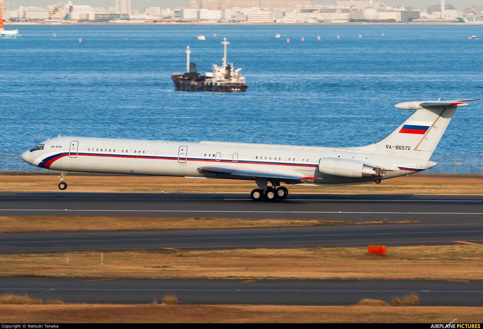 Russia - Air Force RA-86572 aircraft at Tokyo - Haneda Intl