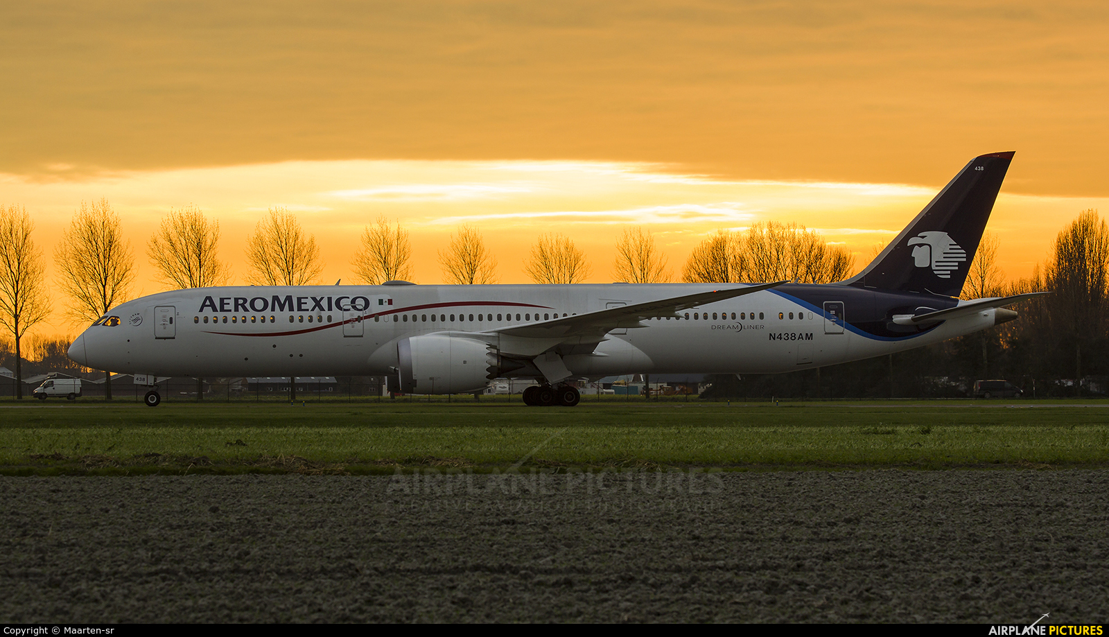 Aeromexico N438AM aircraft at Amsterdam - Schiphol