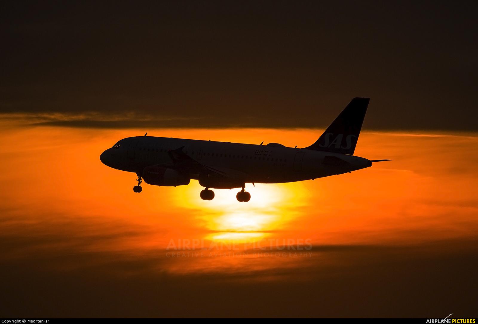 SAS - Scandinavian Airlines OY-KBT aircraft at Amsterdam - Schiphol