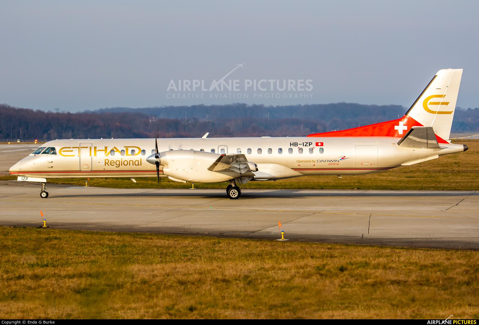 Etihad Regional - Darwin Airlines HB-IZP aircraft at Geneva Intl
