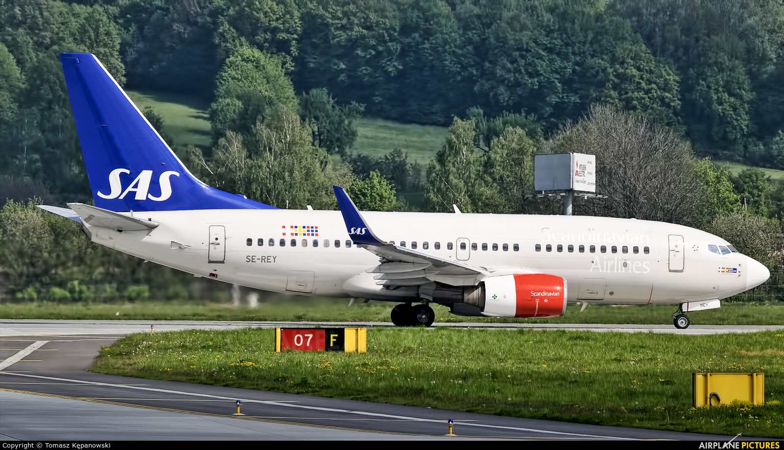 SAS - Scandinavian Airlines SE-REY aircraft at Kraków - John Paul II Intl