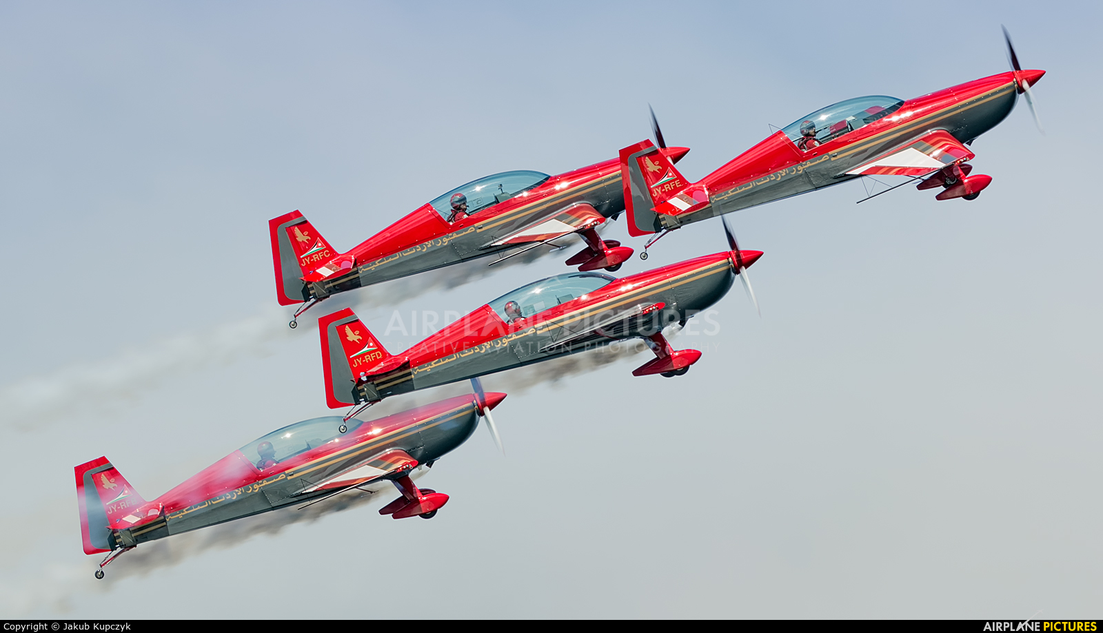 Royal Jordanian Falcons JY-RFB aircraft at Bray - Off Airport