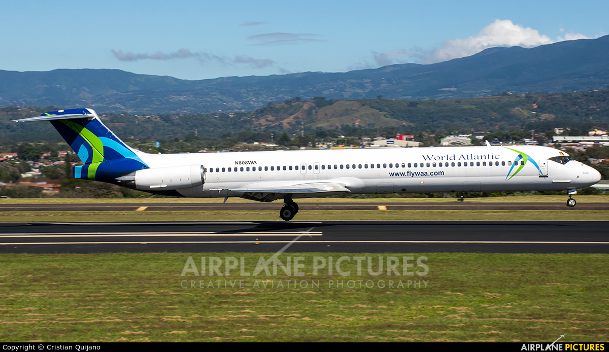 World Atlantic Airways N808WA aircraft at San Jose - Juan Santamaría Intl