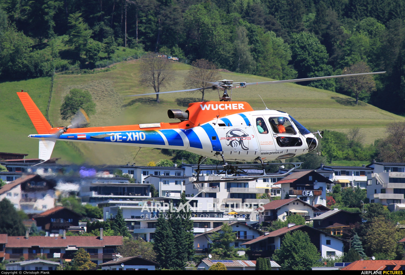 Wucher Helicopter OE-XHO aircraft at Innsbruck