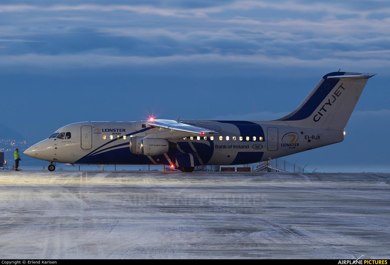 CityJet EI-RJX aircraft at Trondheim - Vaernes