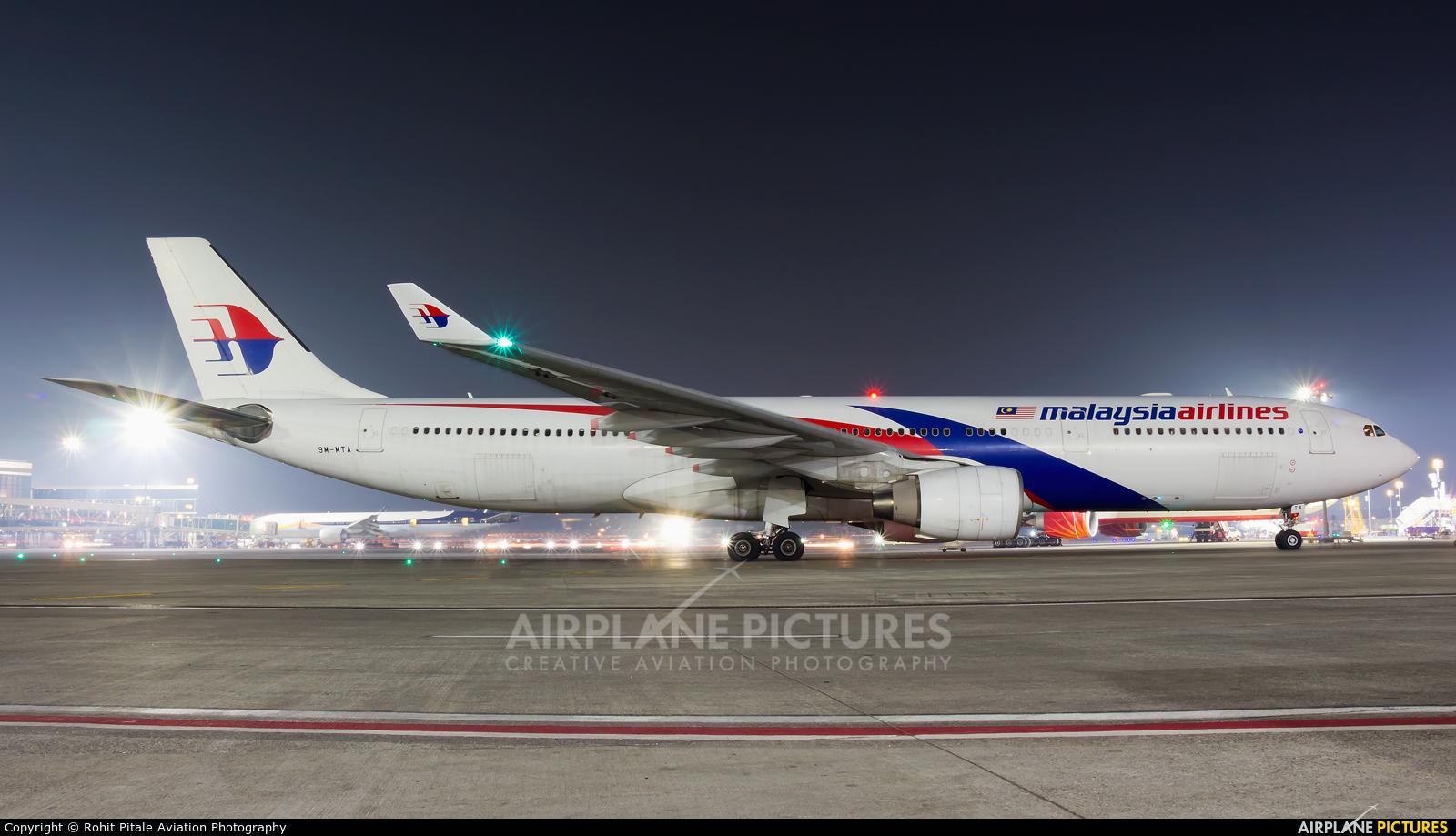 Malaysia Airlines 9M-MTA aircraft at Mumbai - Chhatrapati Shivaji Intl