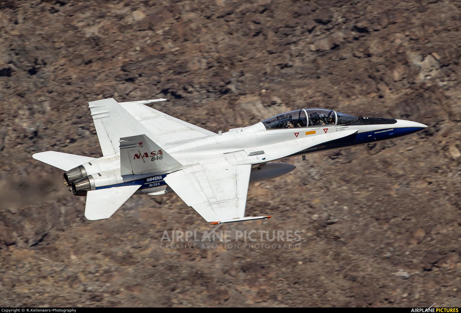 NASA N846NA aircraft at Rainbow Canyon - Off Airport