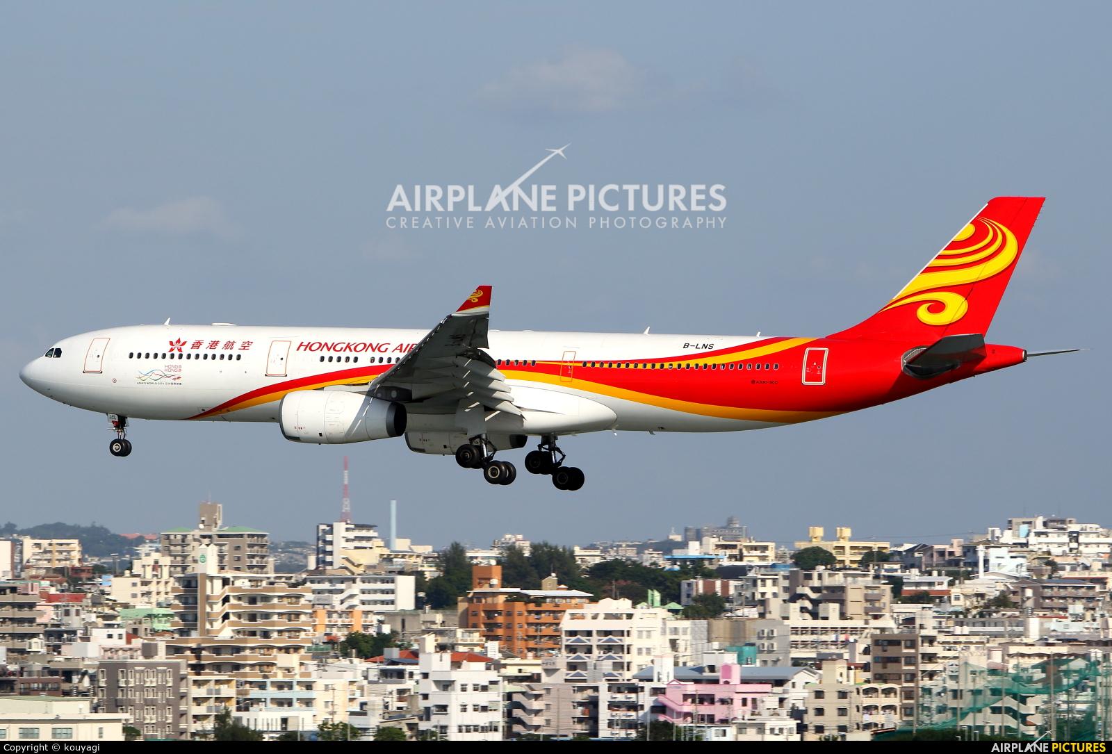 Hong Kong Airlines B-LNS aircraft at Naha