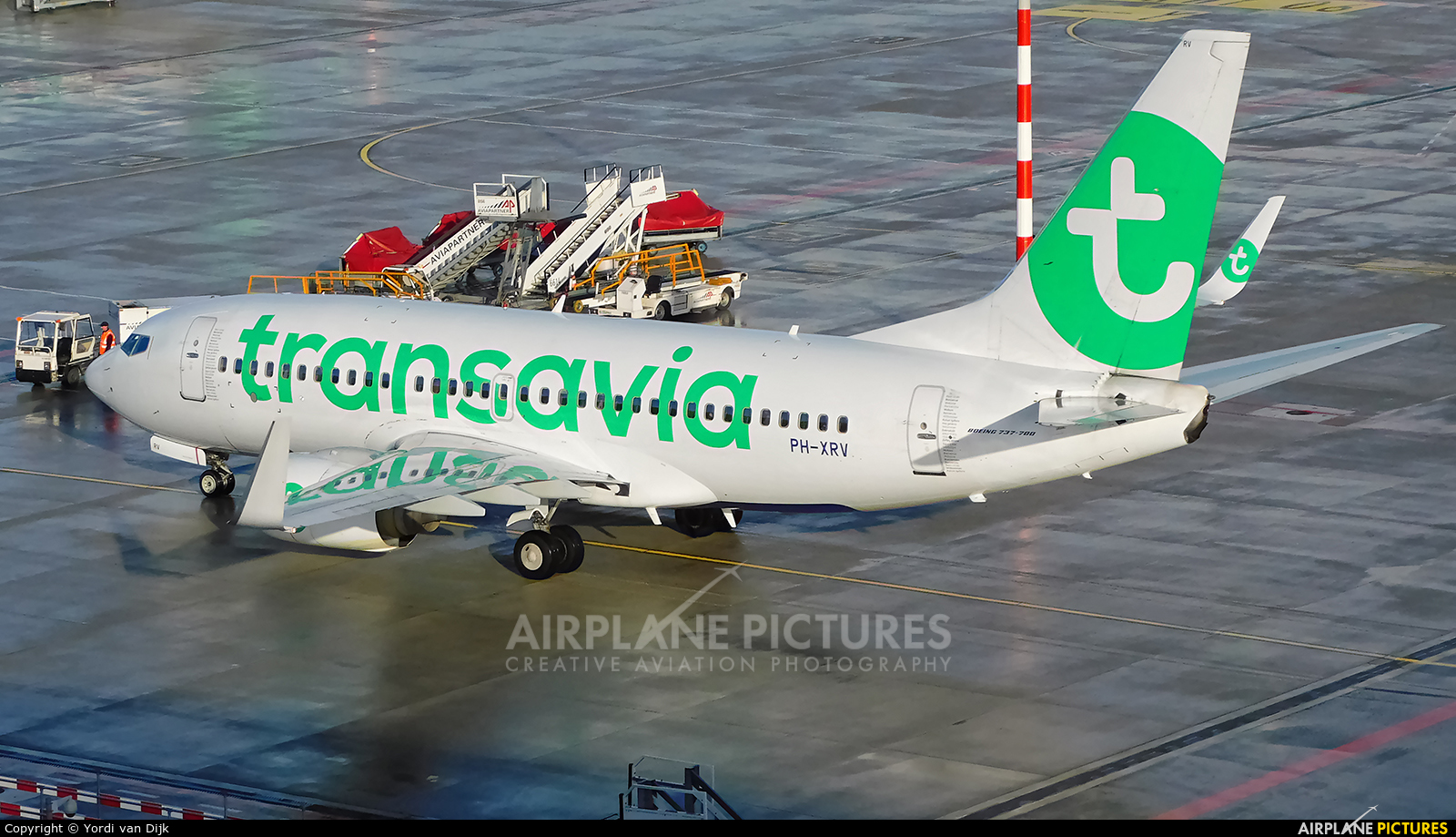 Transavia PH-XRV aircraft at Rotterdam