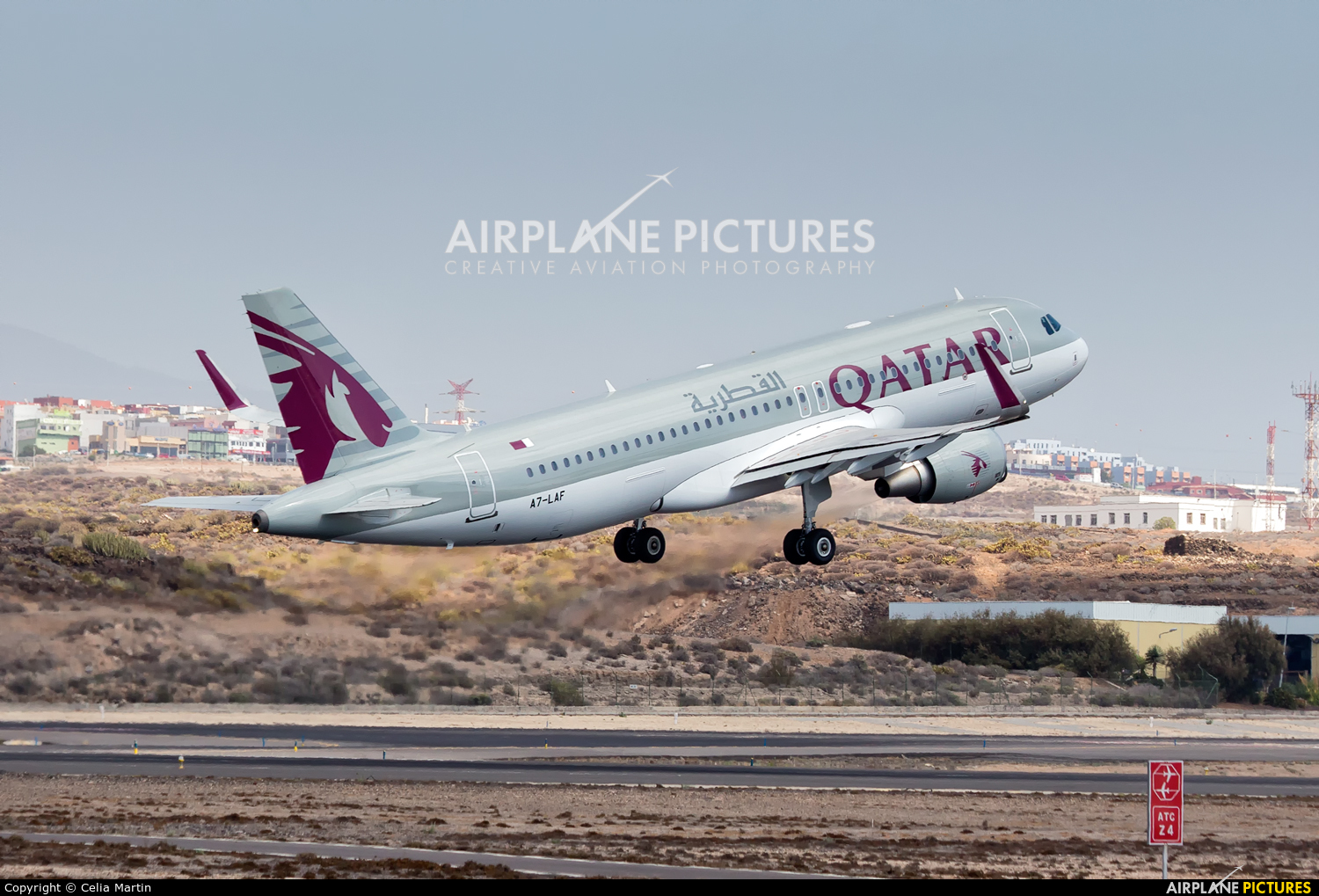 Qatar Airways A7-LAF aircraft at Tenerife Sur - Reina Sofia