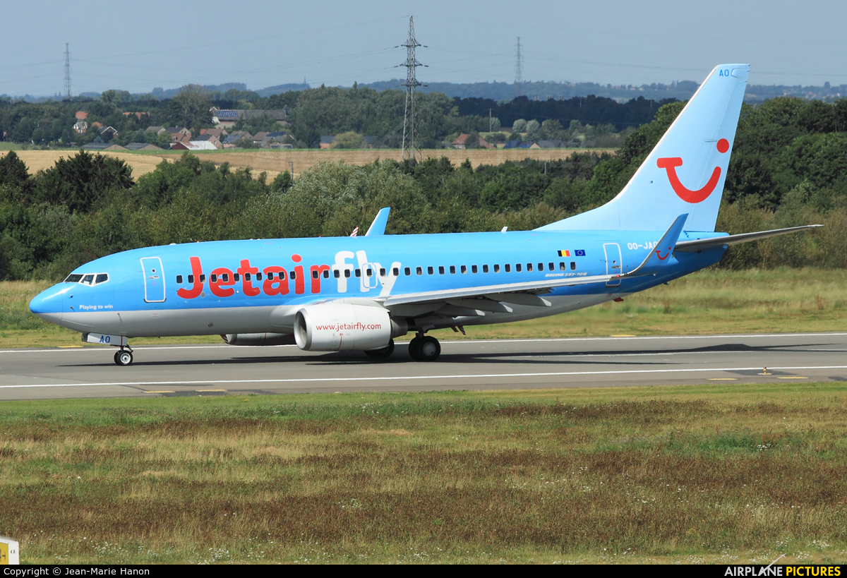 Jetairfly (TUI Airlines Belgium) OO-JAO aircraft at Liège-Bierset