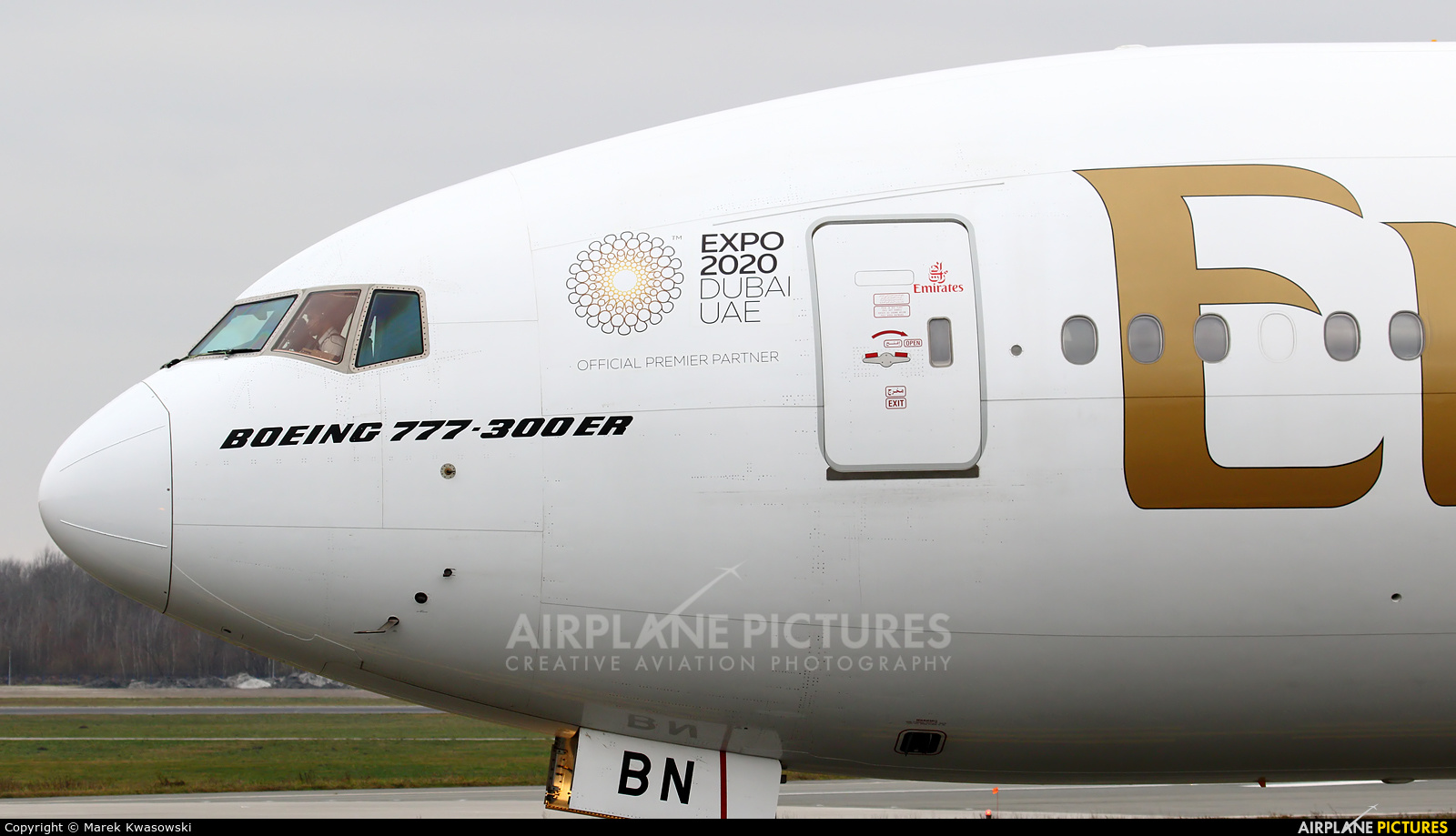 Emirates Airlines A6-EBN aircraft at Warsaw - Frederic Chopin