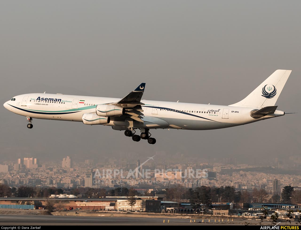 Iran Aseman EP-APA aircraft at Tehran - Mehrabad Intl