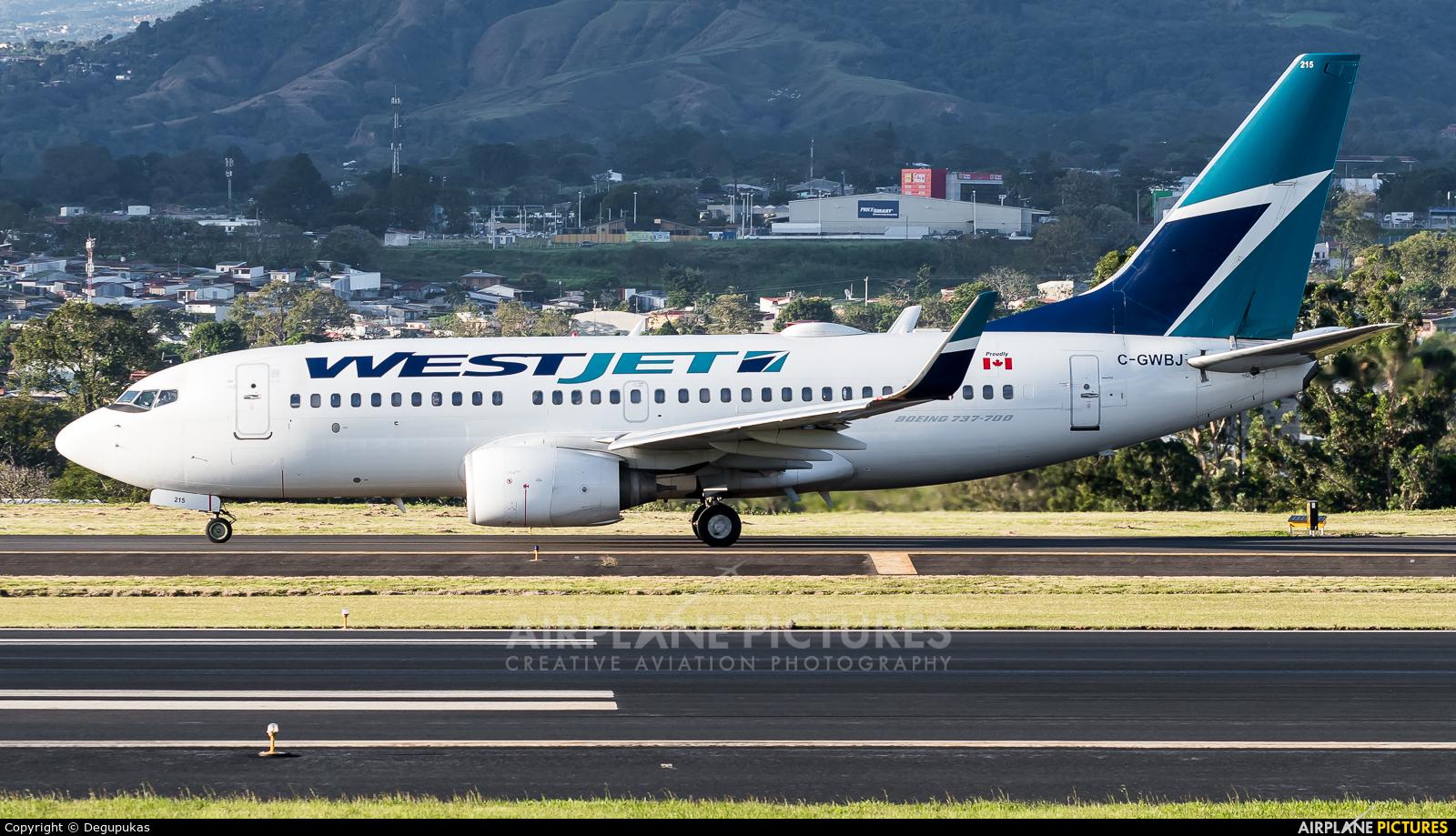 WestJet Airlines C-GWBJ aircraft at San Jose - Juan Santamaría Intl