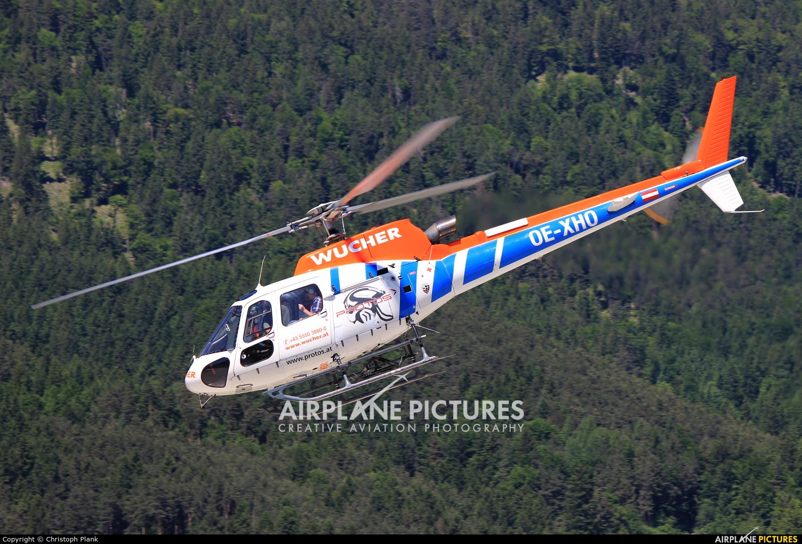 Wucher Helicopter OE-XHO aircraft at Innsbruck