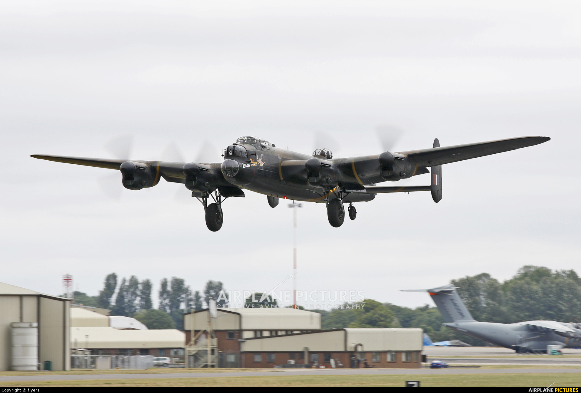 "Royal Air Force ""Battle of Britain Memorial Flight&quot PA474 aircraft at Fairford"