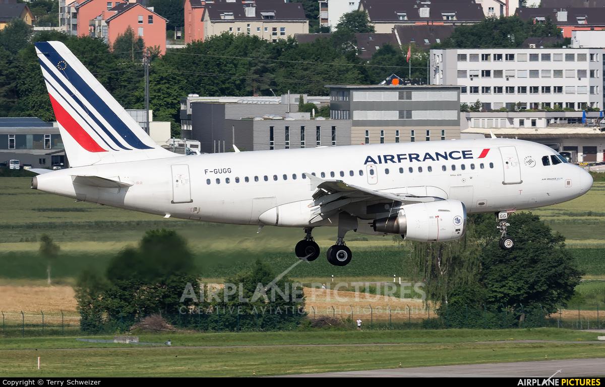 Air France F-GUGG aircraft at Zurich