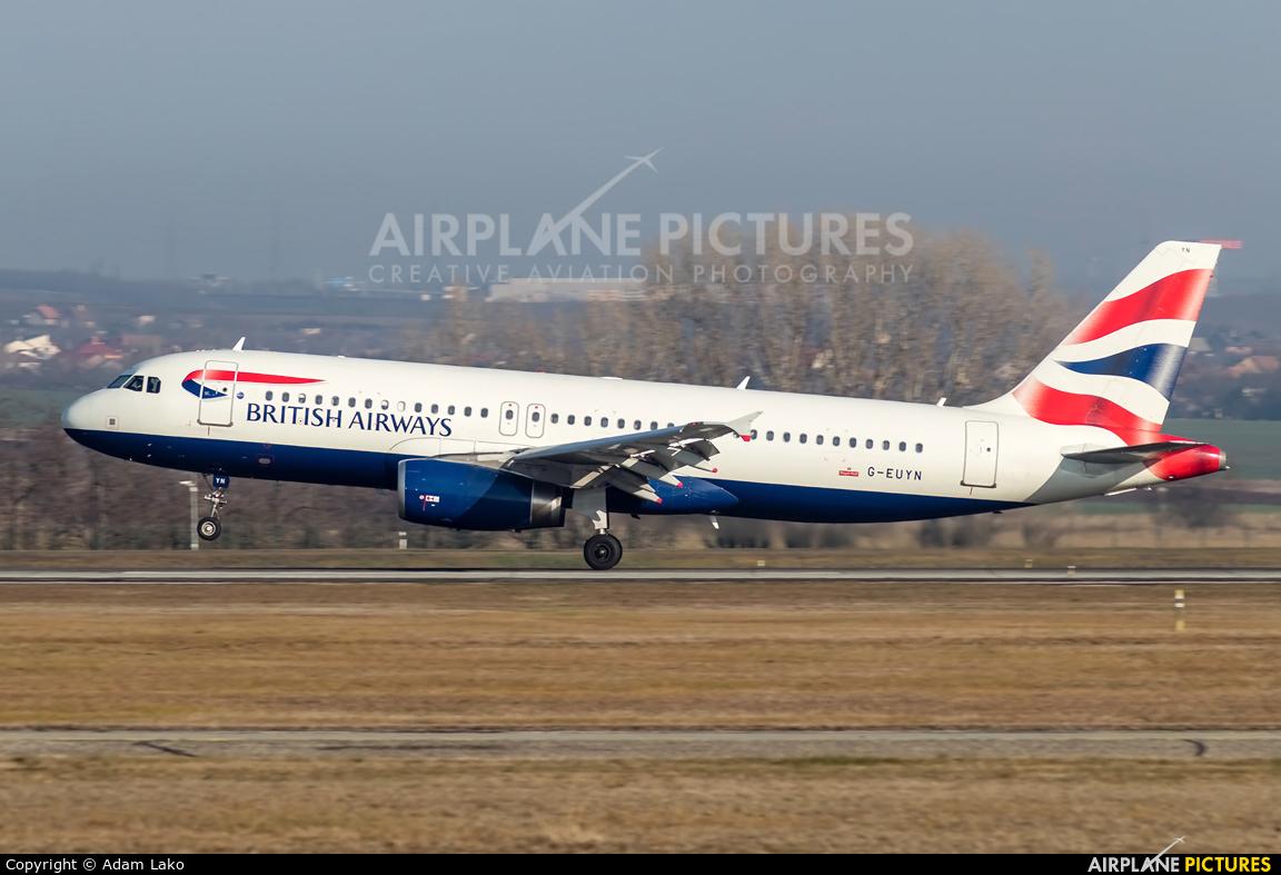 British Airways G-EUYN aircraft at Budapest Ferenc Liszt International Airport