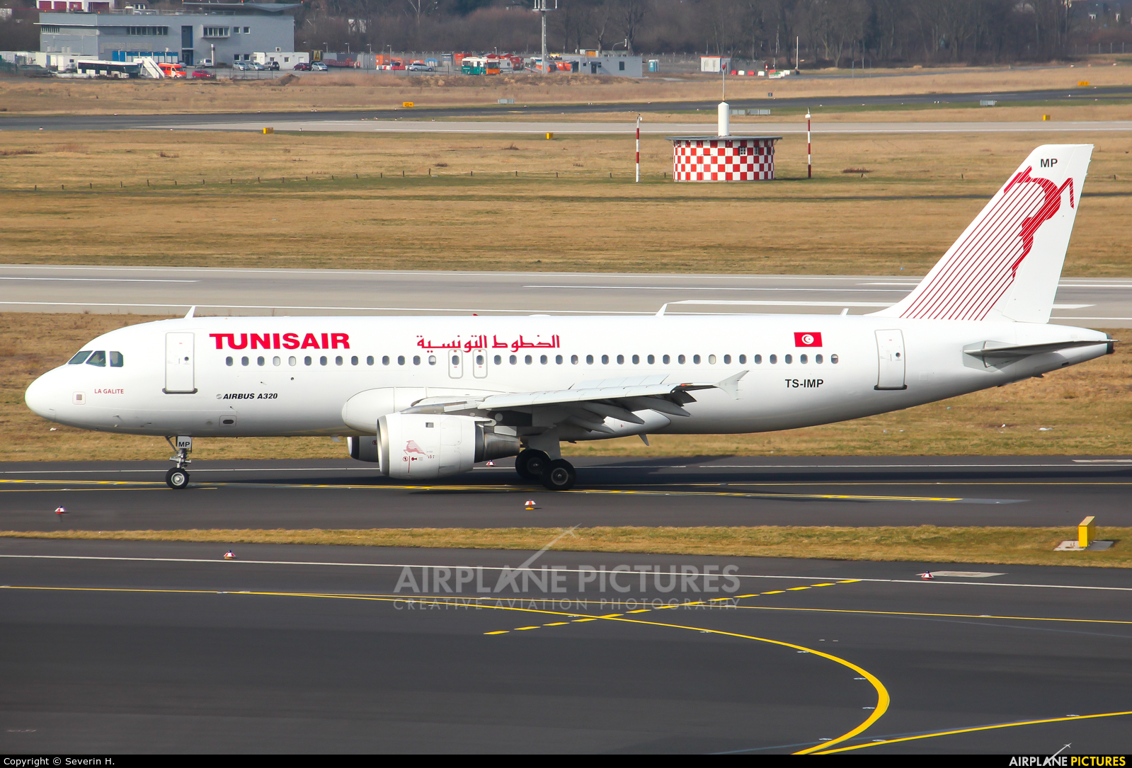 Tunisair TS-IMP aircraft at Düsseldorf
