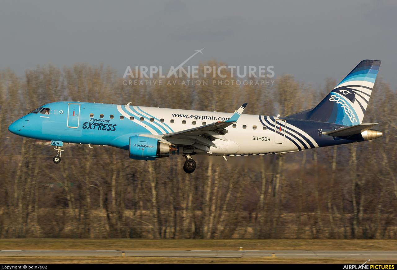 Egyptair Express SU-GDH aircraft at Budapest Ferenc Liszt International Airport