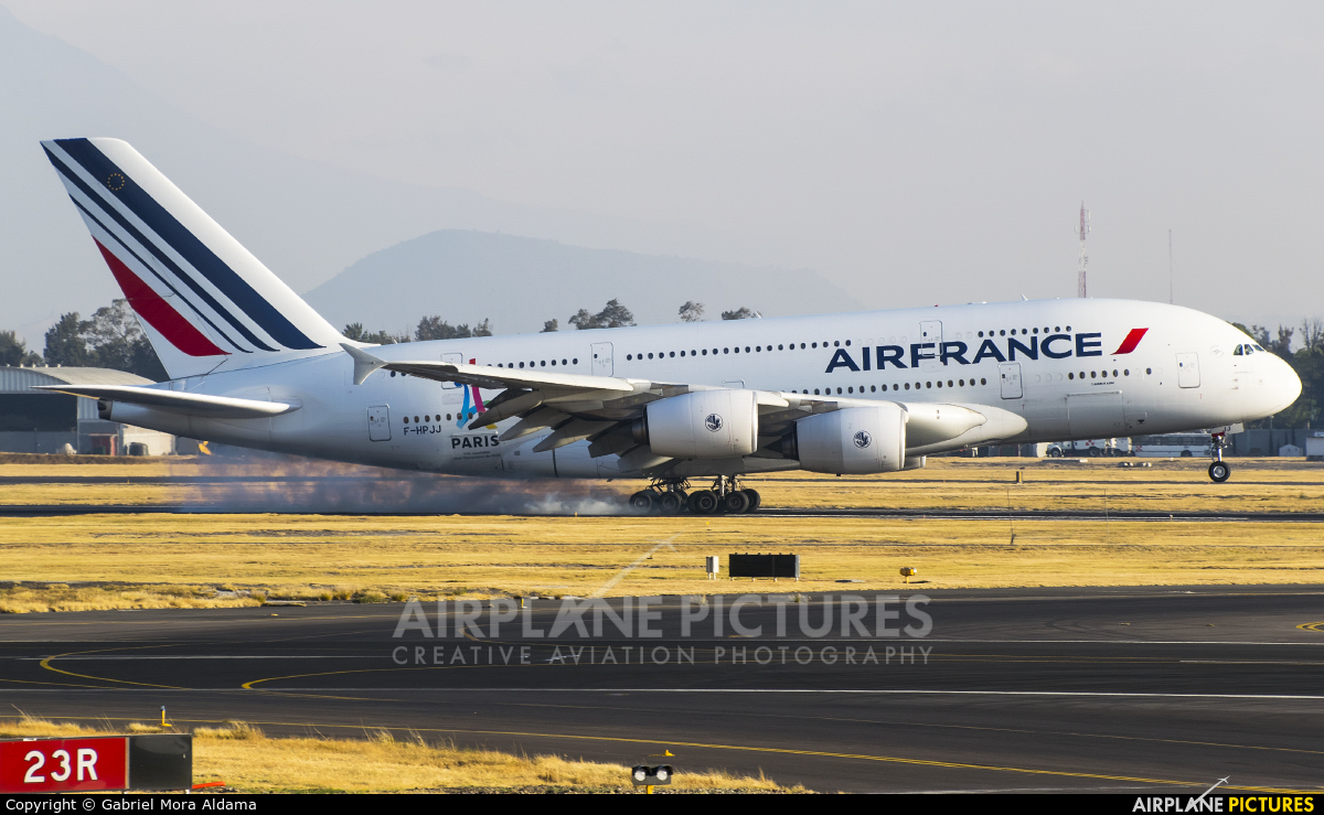Air France F-HPJJ aircraft at Mexico City - Licenciado Benito Juarez Intl