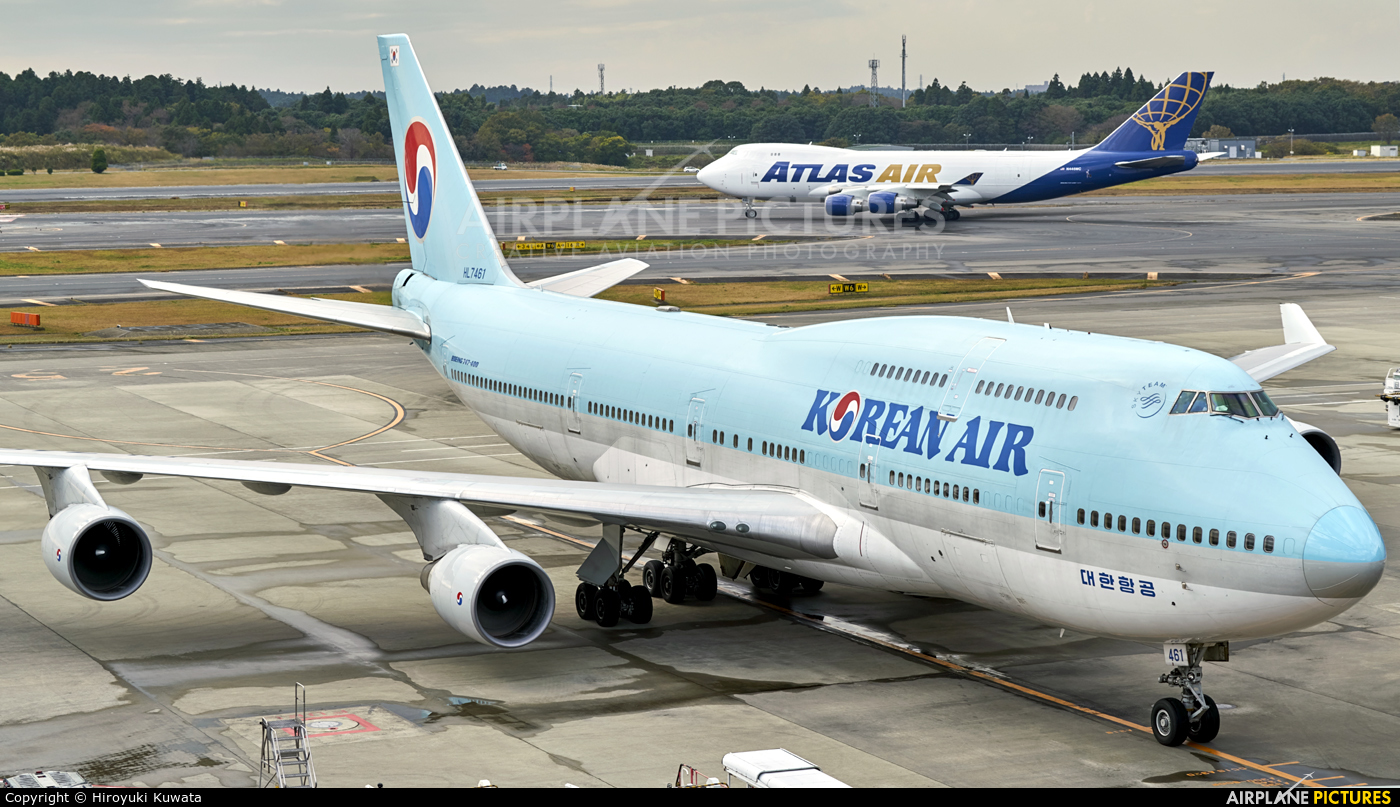 Korean Air HL7461 aircraft at Tokyo - Narita Intl