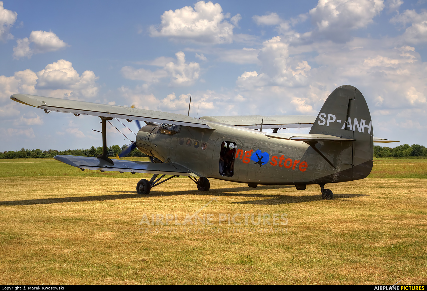 Private SP-ANH aircraft at Piotrków Trybunalski