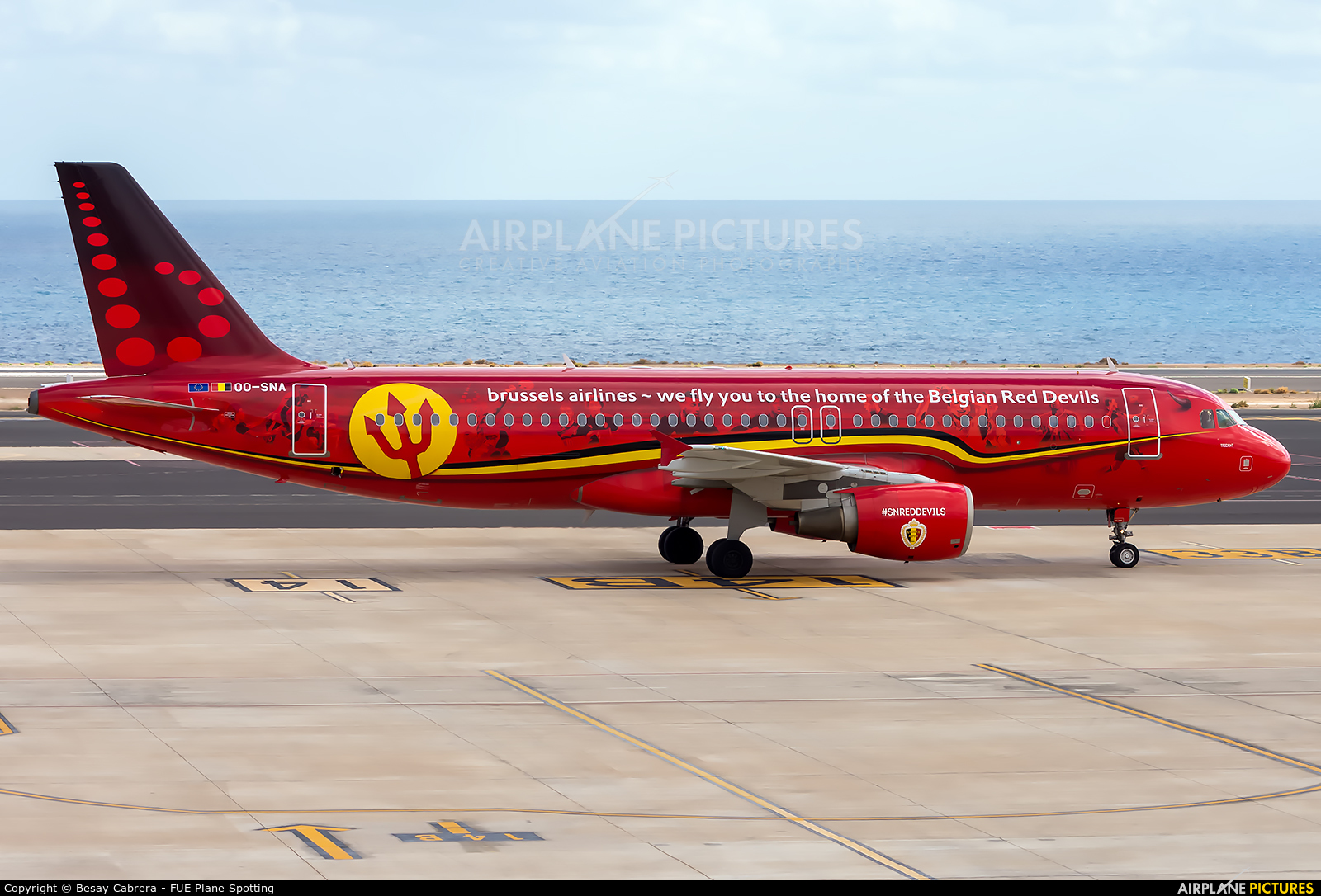Brussels Airlines OO-SNA aircraft at Fuerteventura - Puerto del Rosario