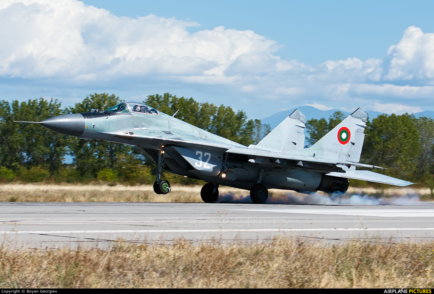 Bulgaria - Air Force 32 aircraft at Graf Ignatievo