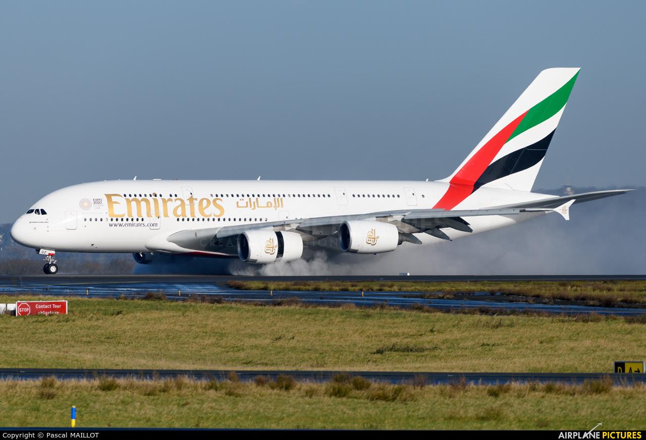 Emirates Airlines A6-EOZ aircraft at Paris - Charles de Gaulle