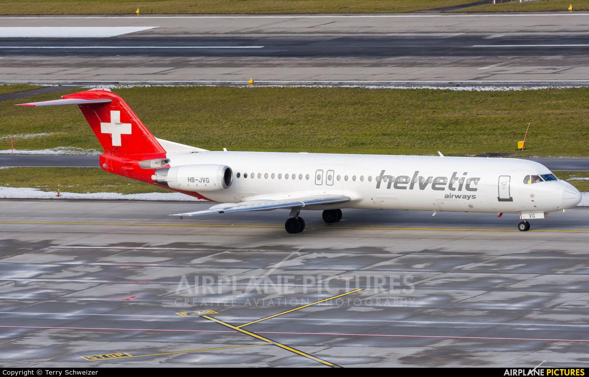 Helvetic Airways HB-JVG aircraft at Zurich