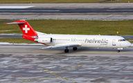 HB-JVG - Helvetic Airways Fokker 100 aircraft