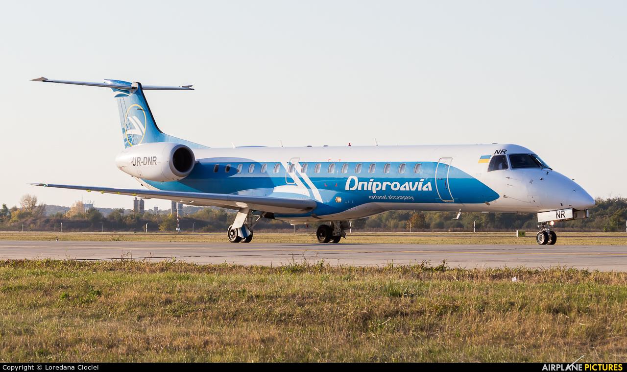 Dniproavia UR-DNR aircraft at Bucharest - Henri Coandă