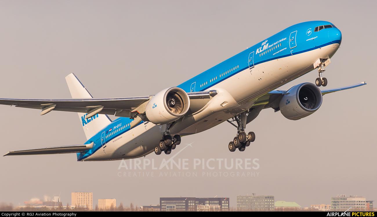 KLM PH-BVU aircraft at Amsterdam - Schiphol