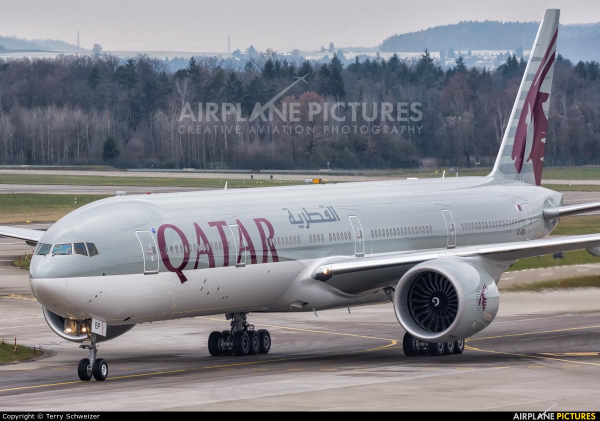 Qatar Airways A7-BEP aircraft at Zurich