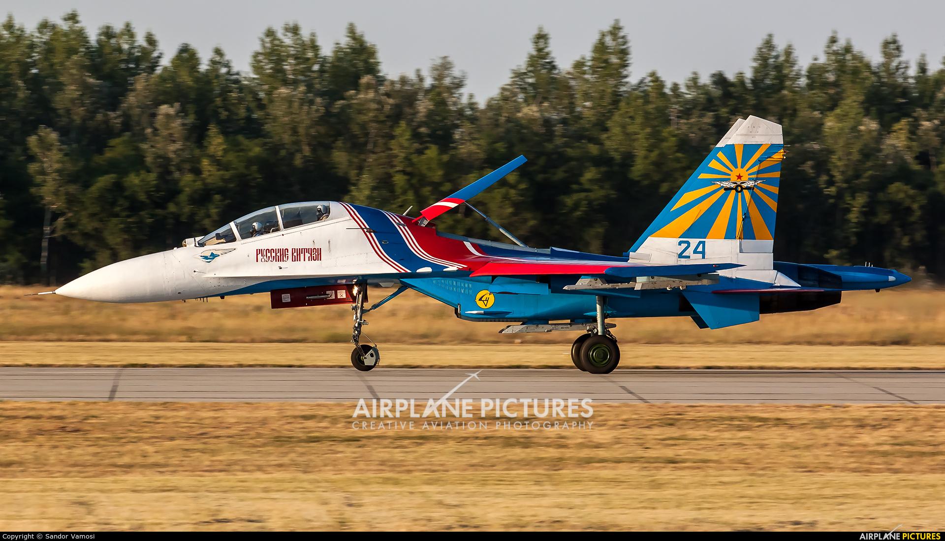 """Russia - Air Force """"Russian Knights"""" 24 aircraft at Kecskemét"""