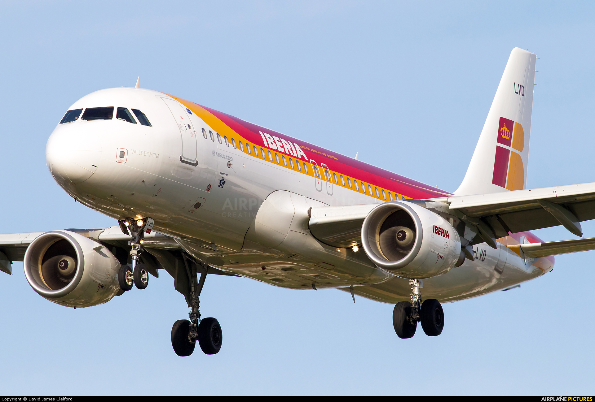 Iberia EC-LVD aircraft at London - Heathrow