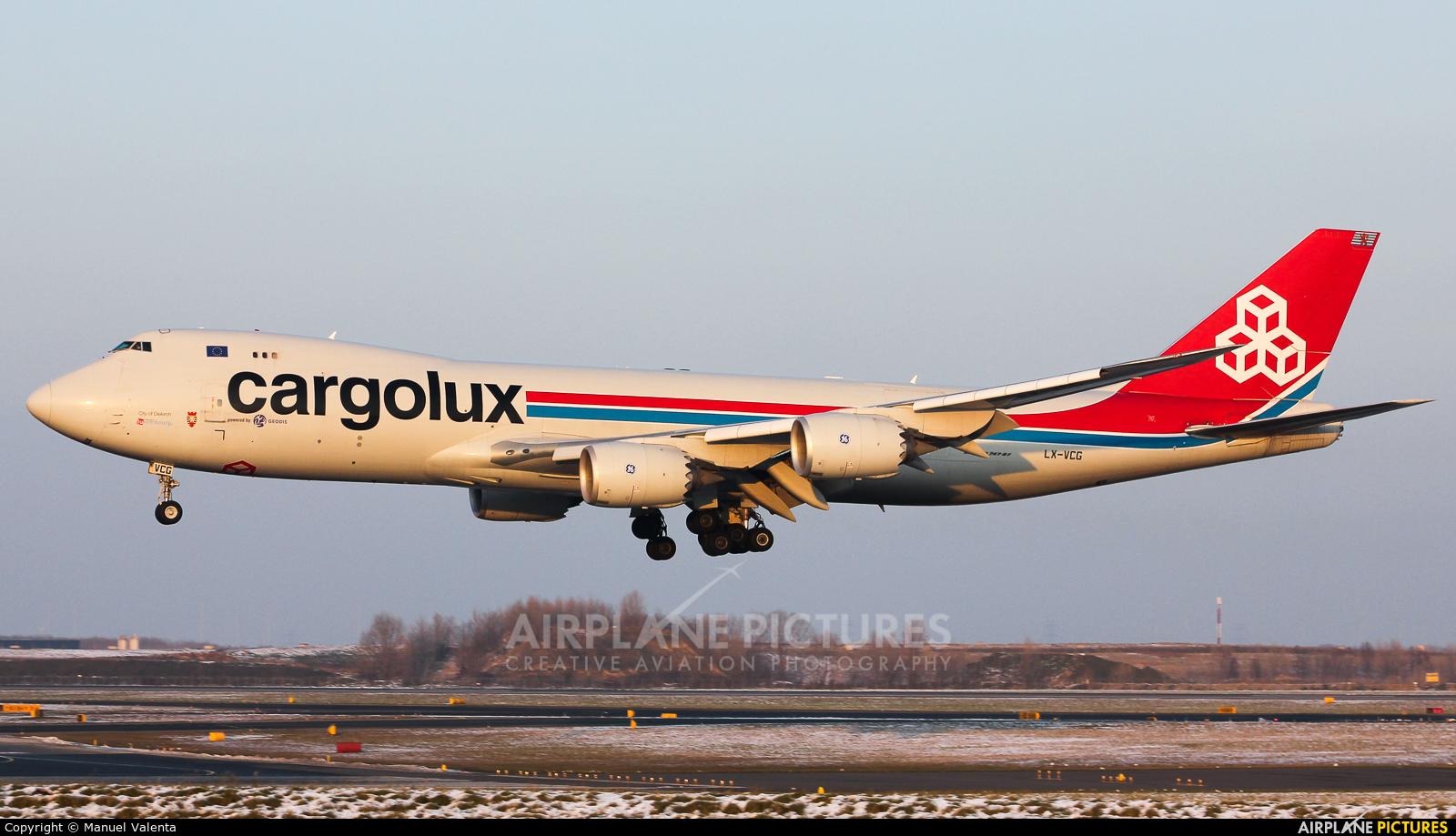 Cargolux LX-VCG aircraft at Vienna - Schwechat