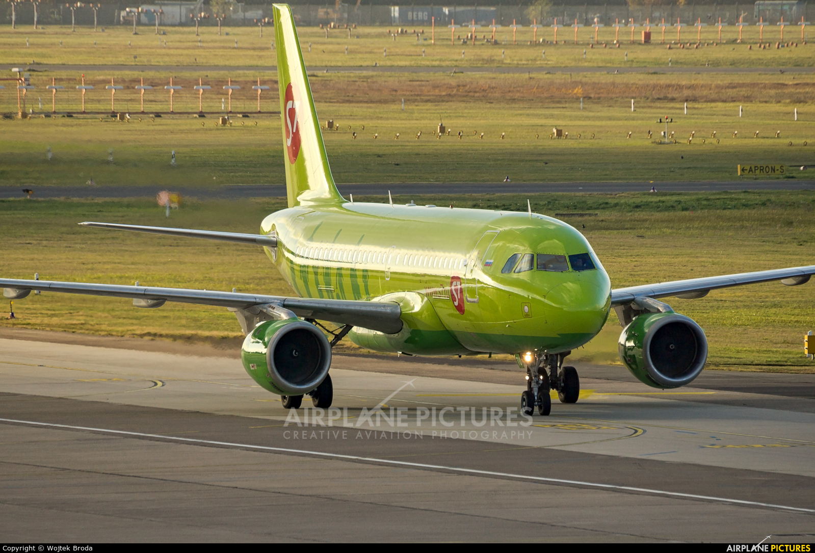 S7 Airlines VP-BTU aircraft at Berlin - Tegel
