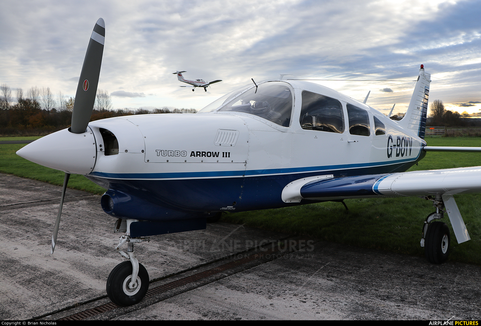 Private G-BOYV aircraft at Welshpool