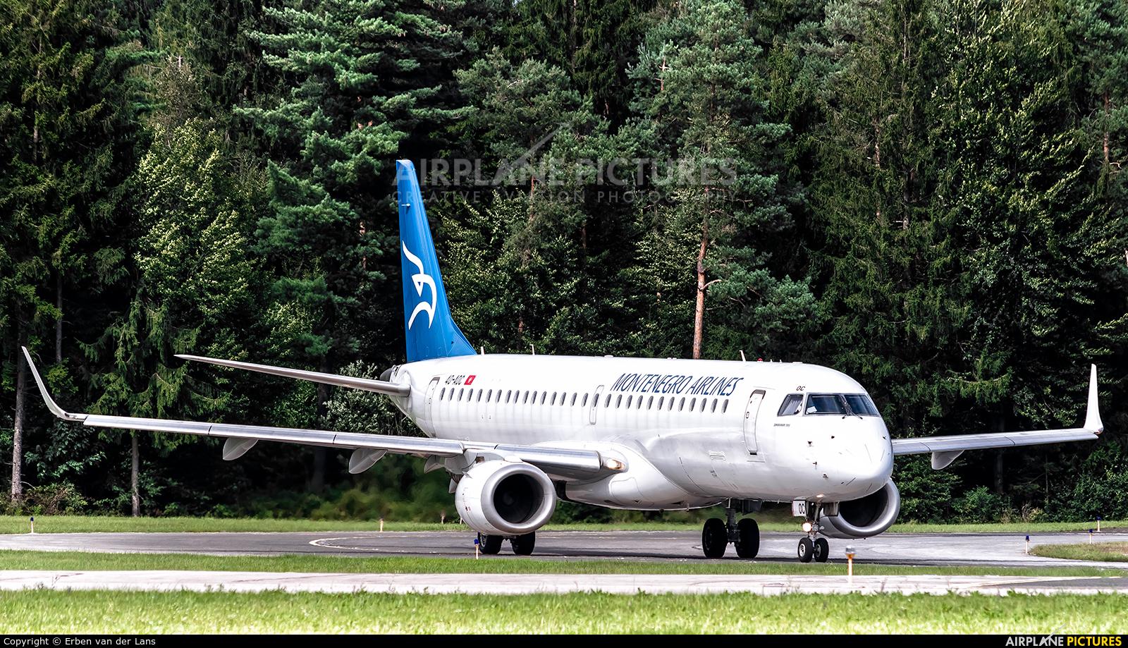 Montenegro Airlines 4O-AOC aircraft at Ljubljana - Brnik