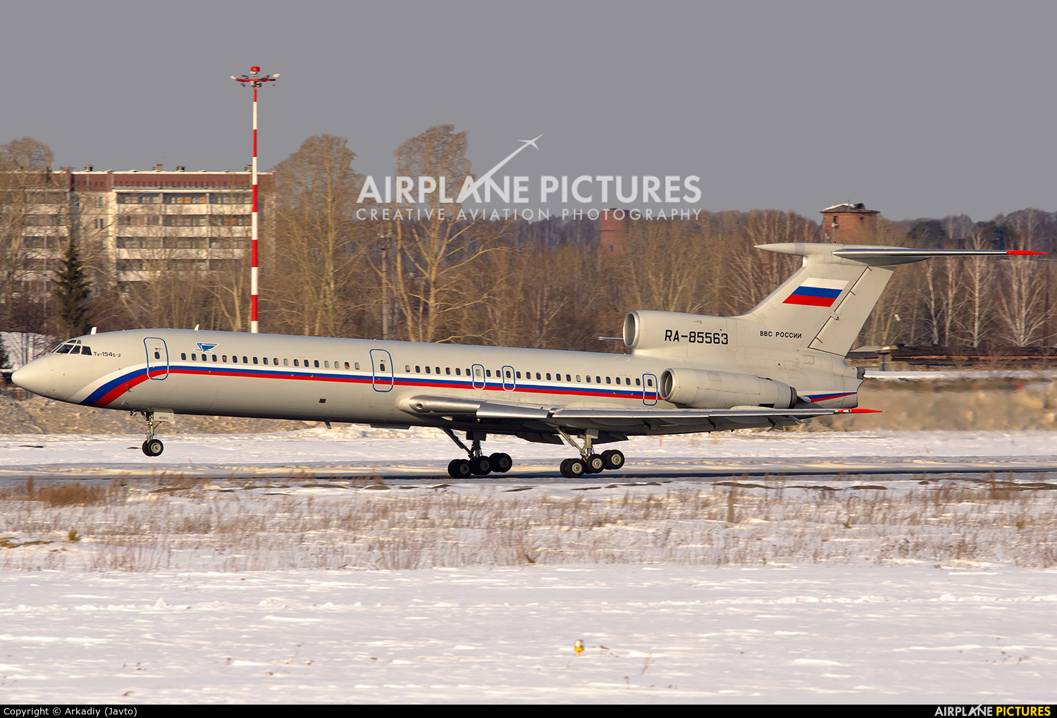 Russia - Air Force RA-85563 aircraft at Koltsovo - Ekaterinburg