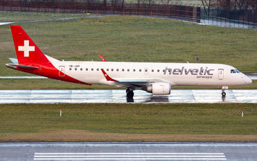 HB-JVP - Helvetic Airways Embraer ERJ-190 (190-100)