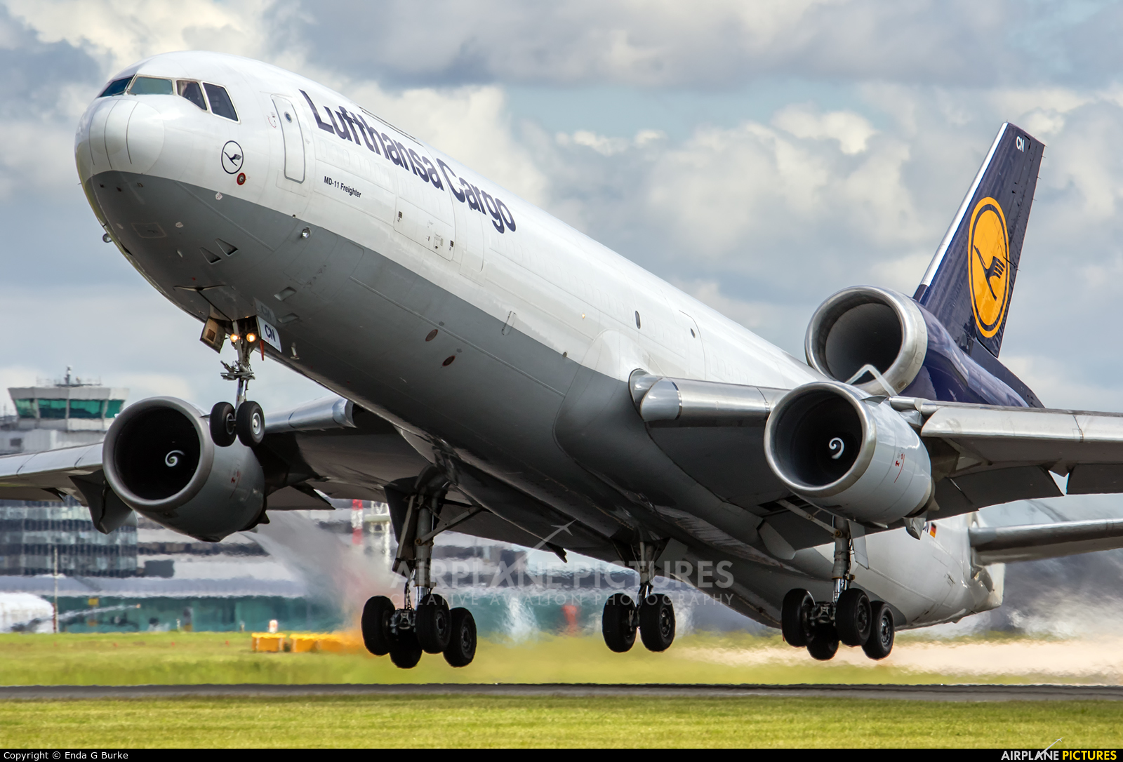 Lufthansa Cargo D-ALCN aircraft at Manchester