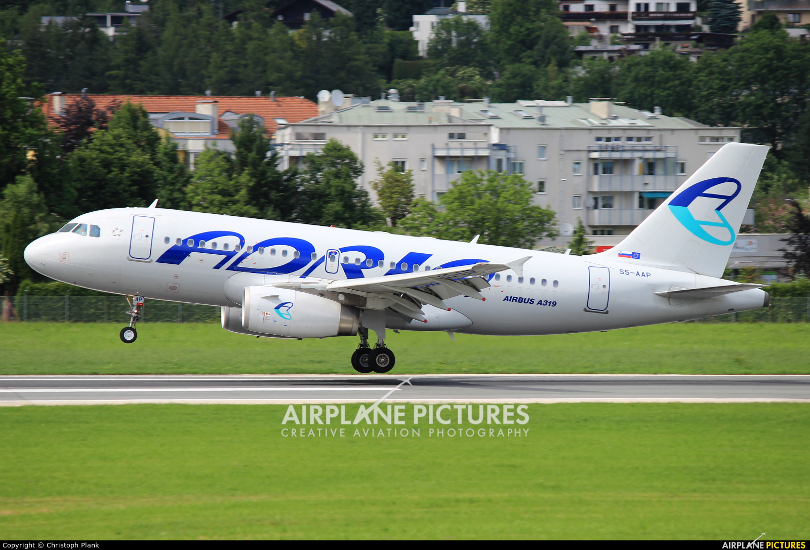 Adria Airways S5-AAP aircraft at Innsbruck