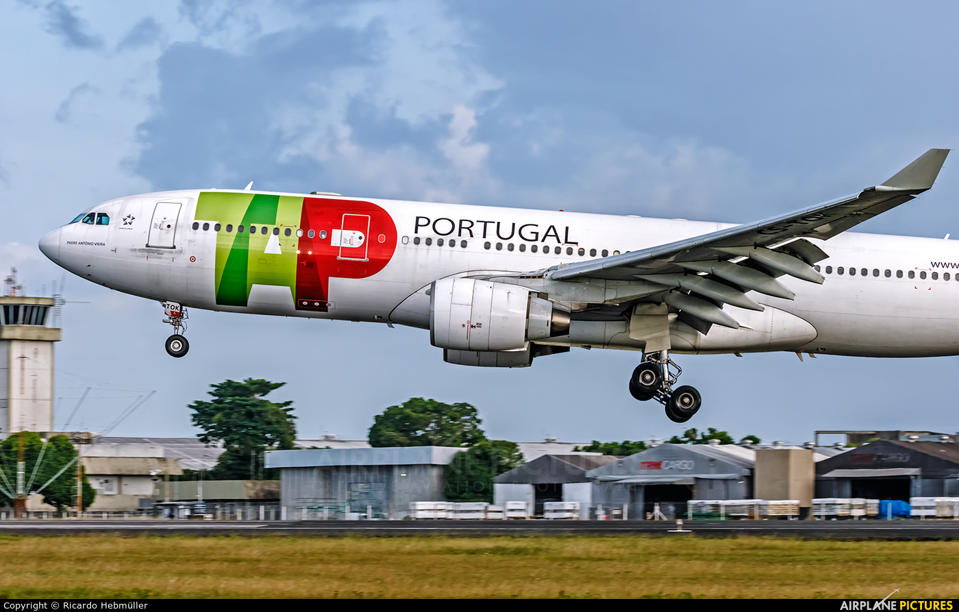 TAP Portugal CS-TOK aircraft at Belém